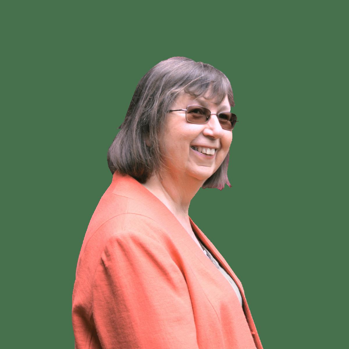 Judy Dean smiling